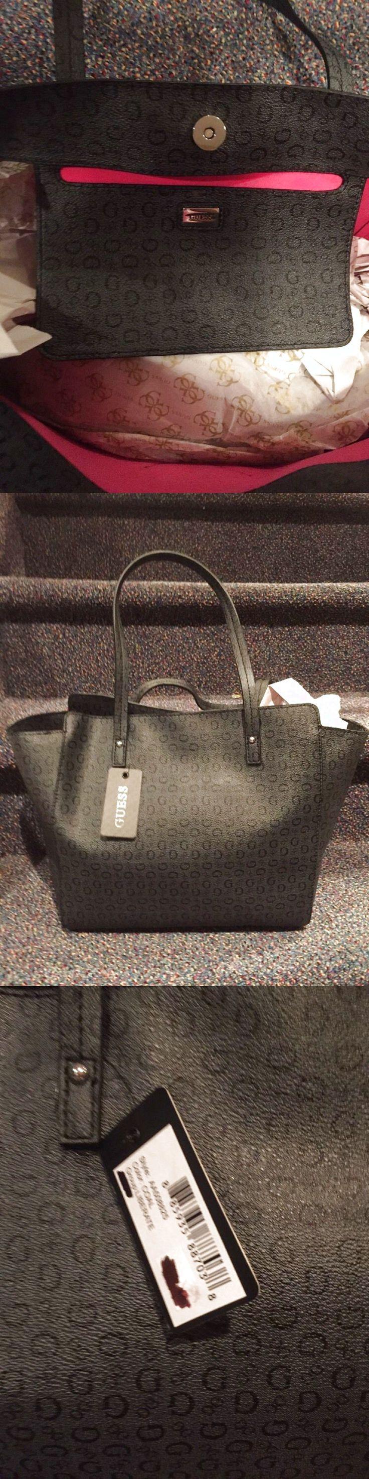 NEW Guess *Liberate*  Black Tote Handbag Bag Purse $45.0