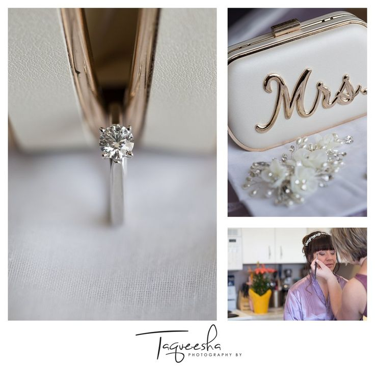 Kamloops wedding photographer, Wedding details, bridal purse, engagement ring. Photography by Taqueesha