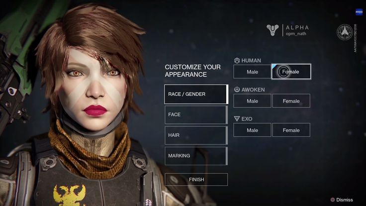 Destiny ps4 game | Select | Character | Apperance | #ui #interface #scifi #destiny #game