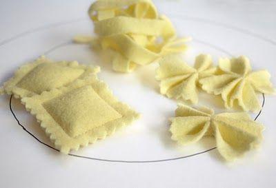 Nudeln aus Filz #sewedfood