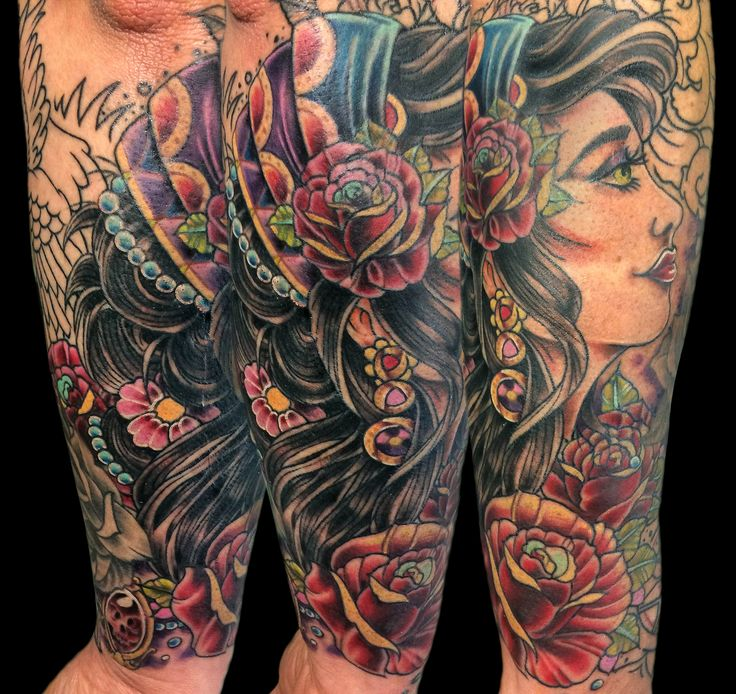 Neo Traditional Gypsy Tattoo neo traditional gypsy art in motion ...