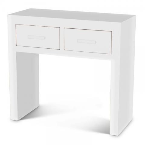 Super White Cube Console Table White Cube Cubic Modern Painted Onthecornerstone Fun Painted Chair Ideas Images Onthecornerstoneorg