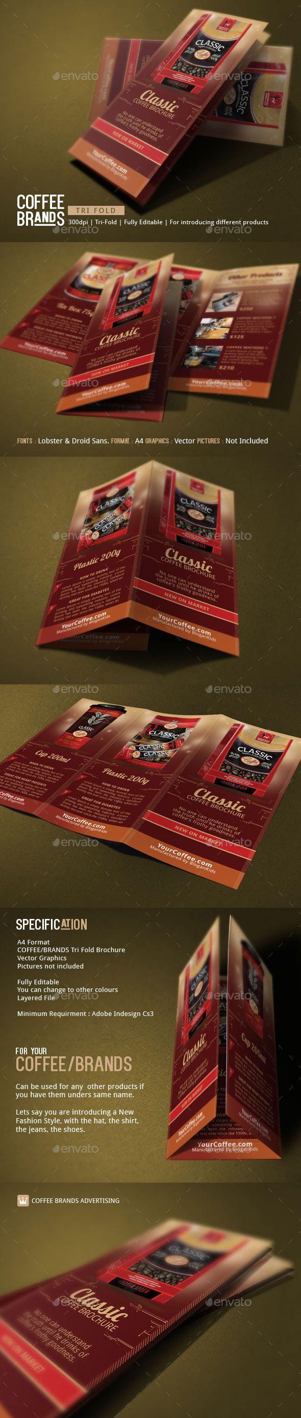 Coffee Brands Brochure Template