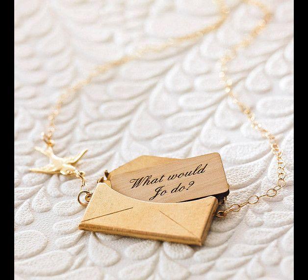 Collier personnalisable #lettre à message
