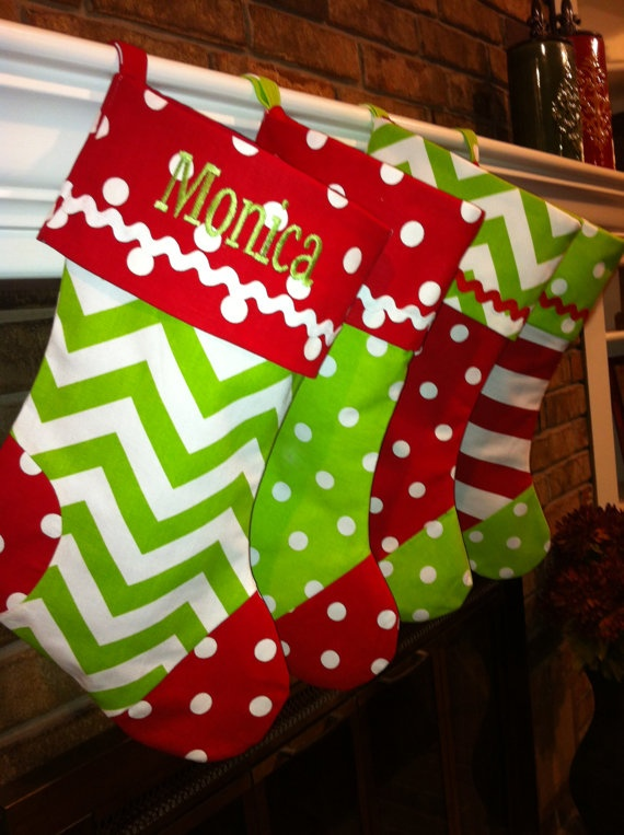 Personalized Handmade Stocking by SooieStitches on Etsy, $25.00