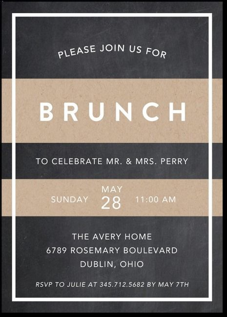 Post Wedding Brunch Invite by Grace Cobb
