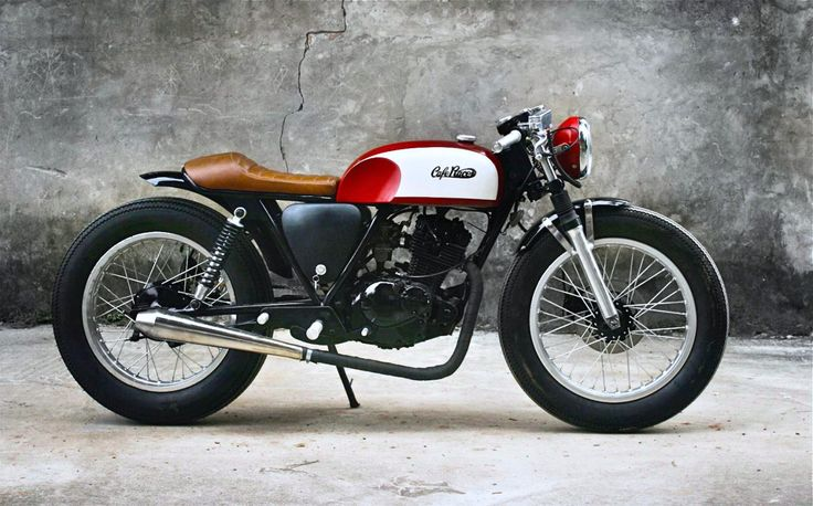 """caferacerpasion: """" Suzuki GN125 Cafe Racer Red by Duong Doan 