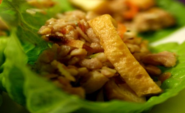 Thai Chicken Salad on Cos Leaves   Thomas Dux