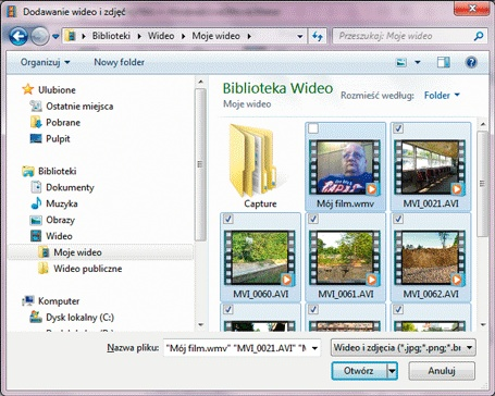 Instrukcja - windows-live-movie-maker