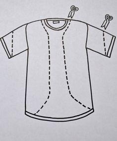 Easy DIY Kimono Sewing Project   T-Shirt Refashion - How To Make A Modern Kimono by DIY Ready at http://diyready.com/easy-diy-kimono-sewing-project-t-shirt-refashion/