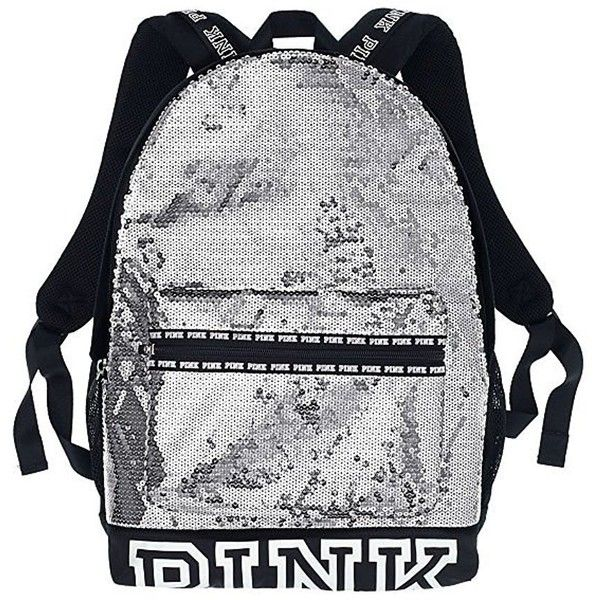 Amazon.com | Victoria's Secret Pink Campus Backpack Animal... ($23) ❤ liked on Polyvore featuring bags, backpacks, animal print backpacks, animal print bags, black and white bag, logo backpack and white and black bag