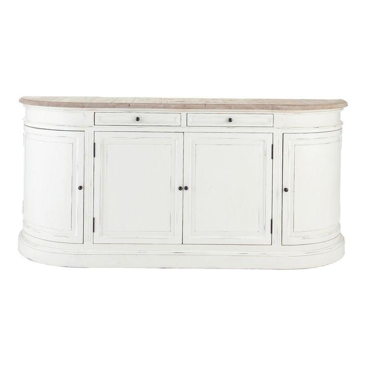 Ivoorkleurig berkenhouten dressoir B 190 cm Provence