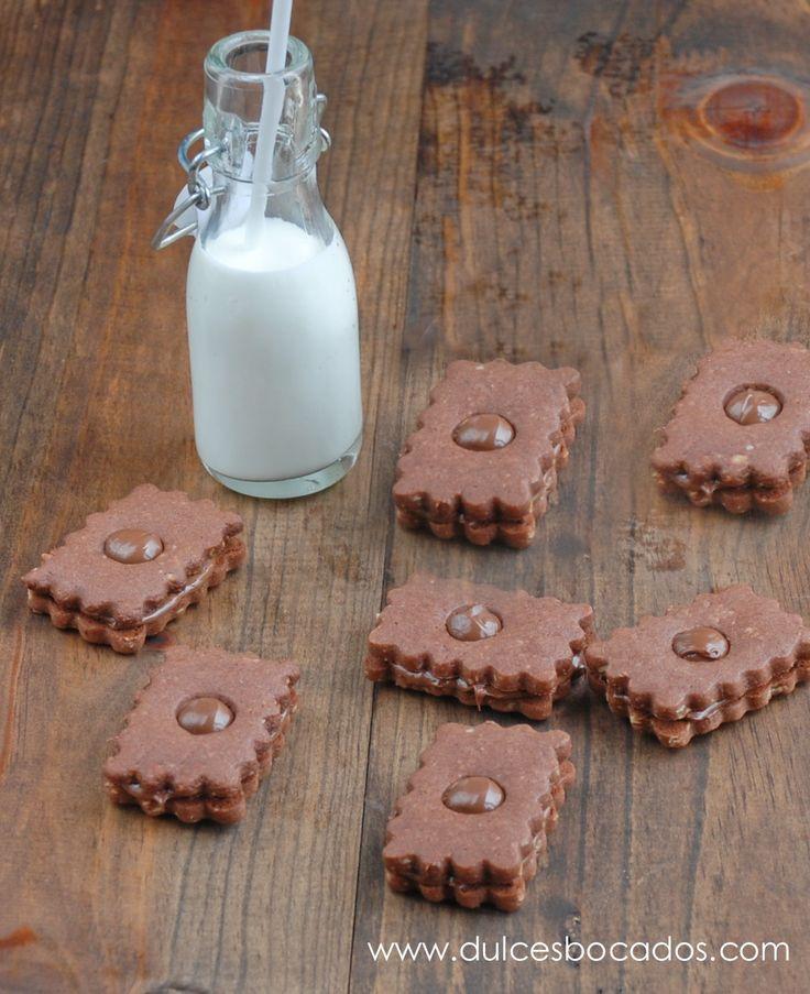 Galletas de cacao y Nutella