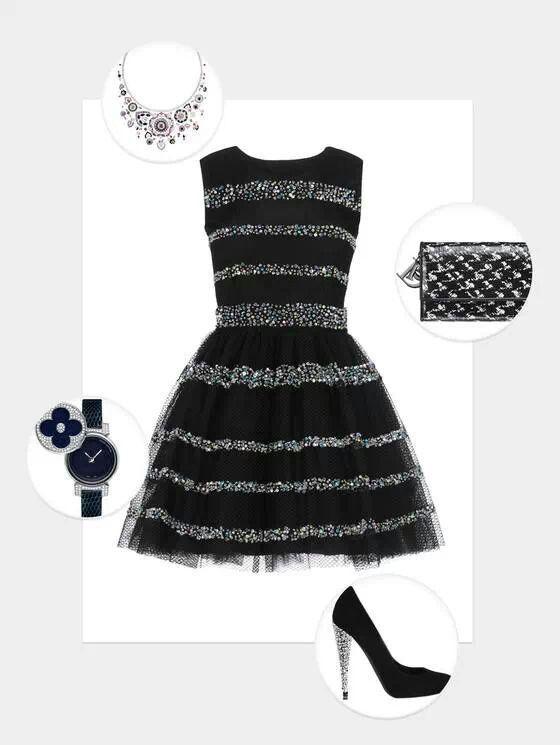 Petite robe noire strass