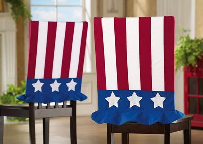 Uncle Sam 4th Of July Decor Fabric Chair Covers