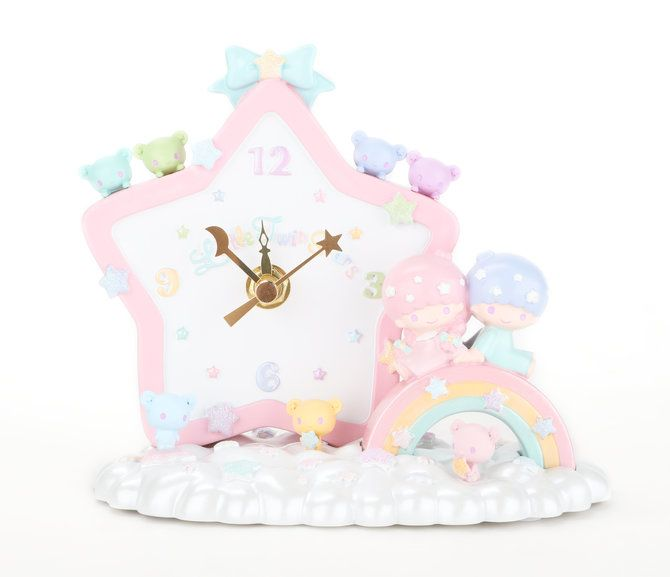 Llittle Twin Star Desktop Clock: Rainbow Bears