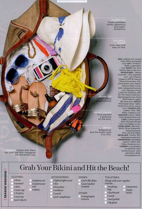 Best  Beach Weekend Packing Ideas On   Vacation