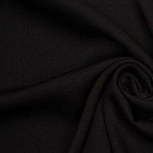 Rag & Bone Black Poly Blend Crepe Back Satin