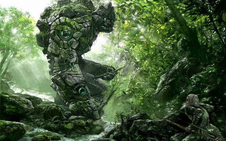 Stone Worrior Forest Guardian Download free addictive high quality photos,beautiful images and amazing digital art graphics about Fantasy / Imagination.