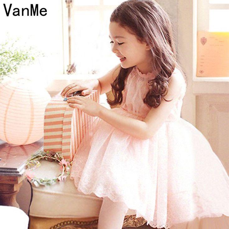 VanMe Lovely Girls Moana Vestido Tulle Dress Yellow White Ball Gown Bridesmaids Adorn Birthday Girl's Mini Princess Dress #V-117 #Affiliate