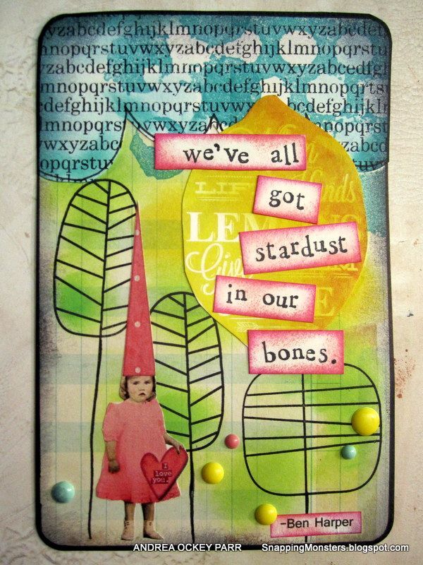 ATC / ACEO art card - Original pinner sez: My Cards and Tags: Inspired by a Song