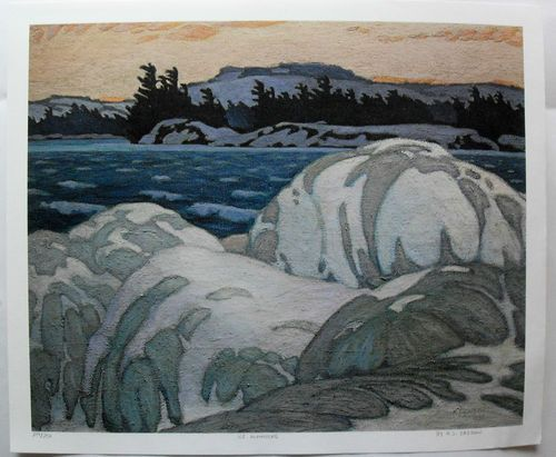 $45.99  Group OF Seven ART Print ICE Hummocks BY A J Casson | eBay
