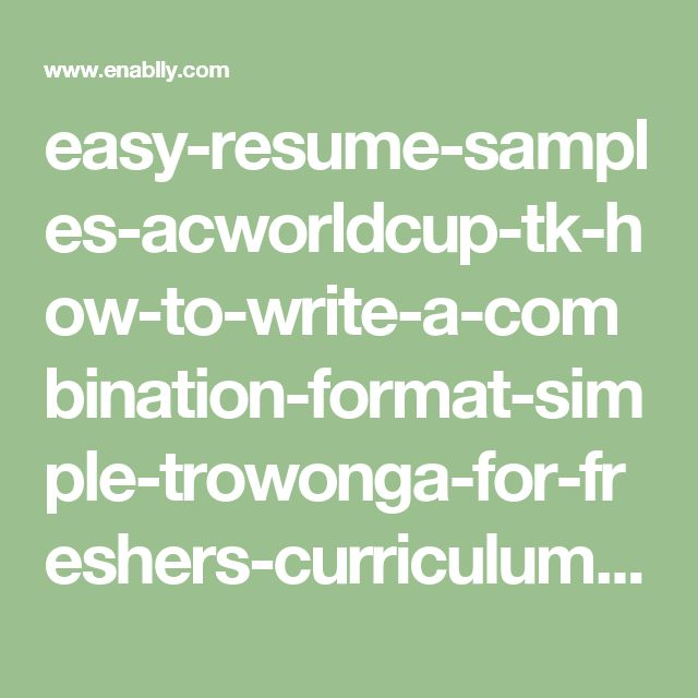 25  best ideas about sample resume format on pinterest