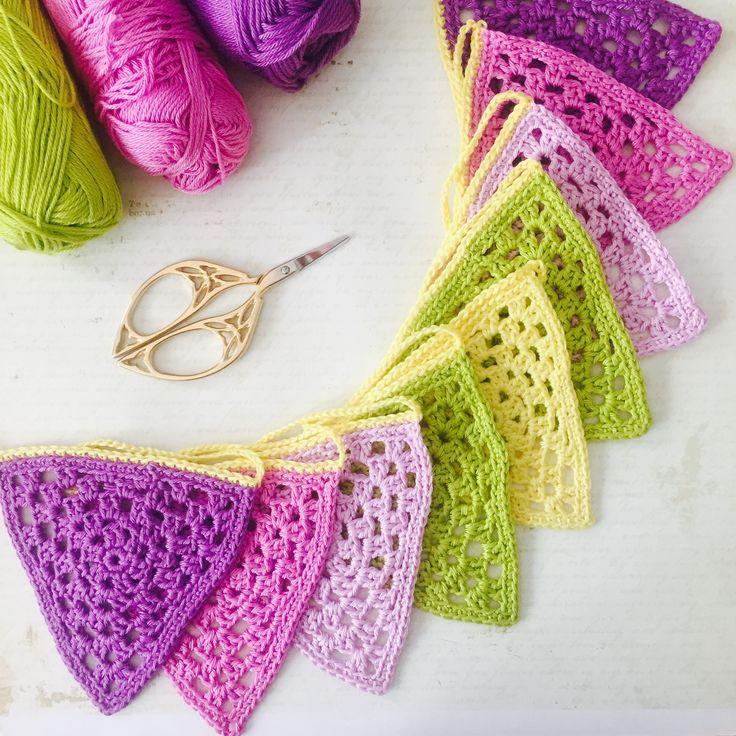 crochet flag garland