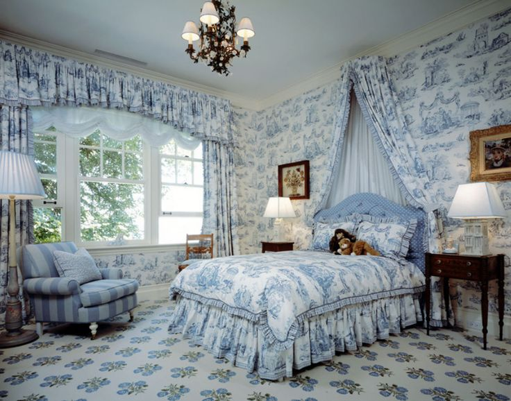 Brown Toile Bedroom Ideas: 1000+ Ideas About Blue White Bedrooms On Pinterest