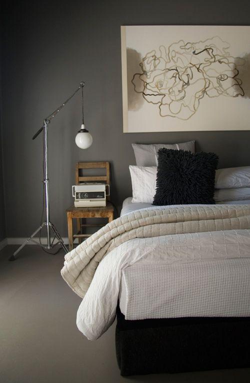 grey bedroom wallsGrey Bedrooms, Guest Bedrooms, Country House, Interiors Design, Grey Wall, Wall Colours, White Interiors, Gray Bedrooms, Gray Wall
