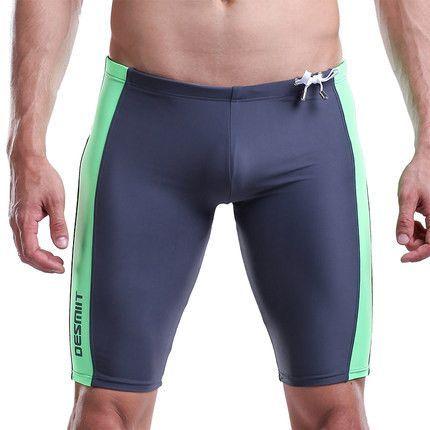 Swimwear men swim Trunks fro men Waterproof quick-drying 1/2 long sexy men swimming trunks plus fertilizer swimsuits A3