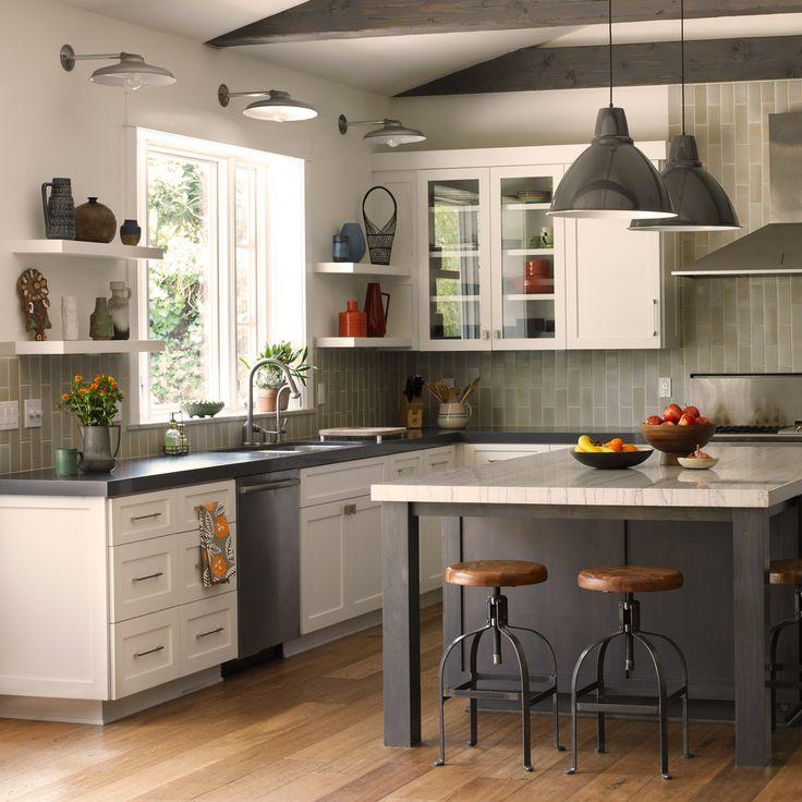 Interior Inspiration 12 Kitchens With Color: Dunn-Edwards Paints Paint Colors: Walls: Fresh Snow DET679