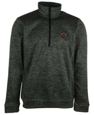 adidas Men's Miami Heat Team Issue Quarter-Zip Pullover - Gray XXL