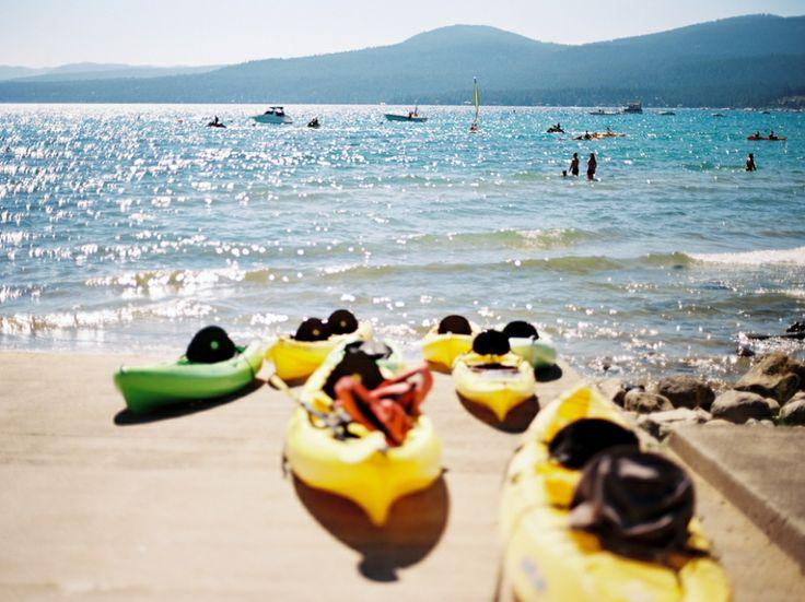 Canoes at Kings Beach, Lake Tahoe on Ektar  Lake Tahoe Vacation Rentals Beautiful views at Lake Tahoe. Luxury vacation rentals. http://www.sierratahoerentals.com/vacation-rentals.php  #laketahoe #tahoe #vacation