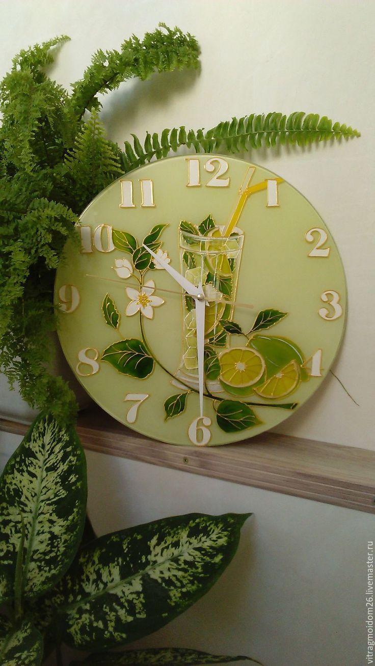 Купить Часы настенные Лайм - салатовый, мятный, лайм, коктейль, мохито, зеленый, часы настенные