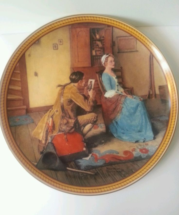 "Rockwell's Colonials: The Rarest Rockwells ""Portrait for a Bridegroom"" #18157A. SOLD. Yolanda@YKP"