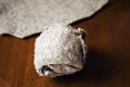 how to make wool dryer balls out of old sweaters