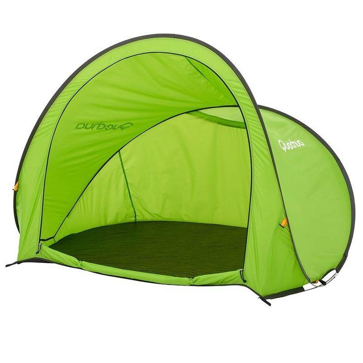 Bergsport_Zelte Camping (QUECHUA) - Popup-Schutzzelt Strandmuschel 2 Seconds XL grün QUECHUA - Zelte