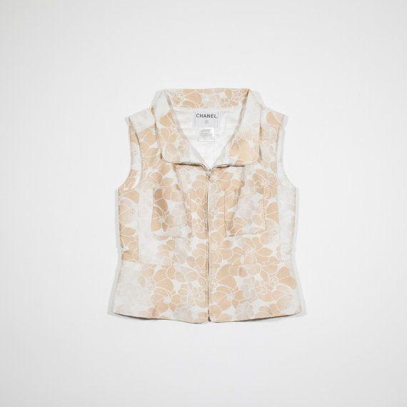 CHANEL - Smanicato cotone avorio - Ivory cotton sleeveless