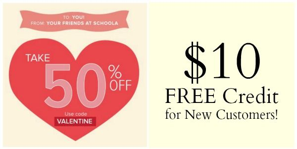 Schoola: 50% OFF Your Purchase (+ New Customers Get $10 FREE!)