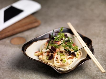 King crab salad with udon noodles and citrus dressing