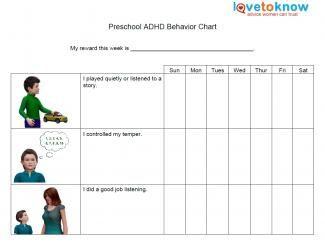 preschool adhd behavior chart