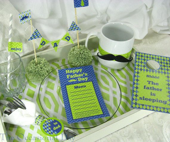 PRINTABLE Father's Day  Breakfast in Bed Set  by TheOccasionalDay,This is Perfect!