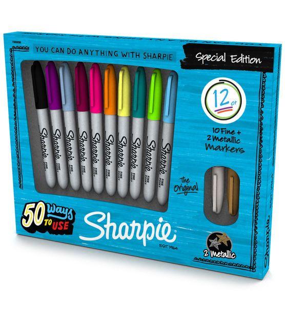 Sanford Sharpie Fine Point Special Edition Permanent Markers 12 Pcs
