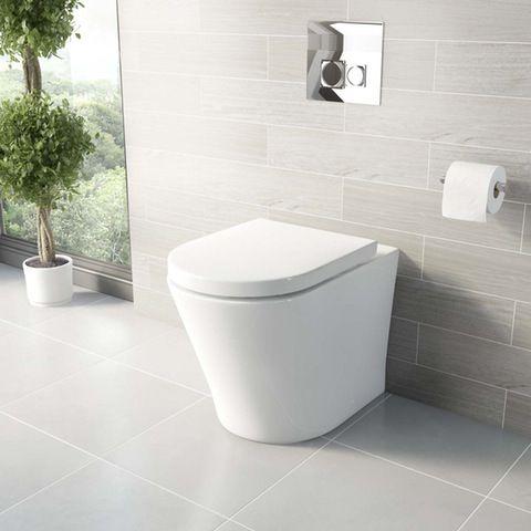 Arc Back To Wall Toilet including Soft Closing Seat | VictoriaPlum.com