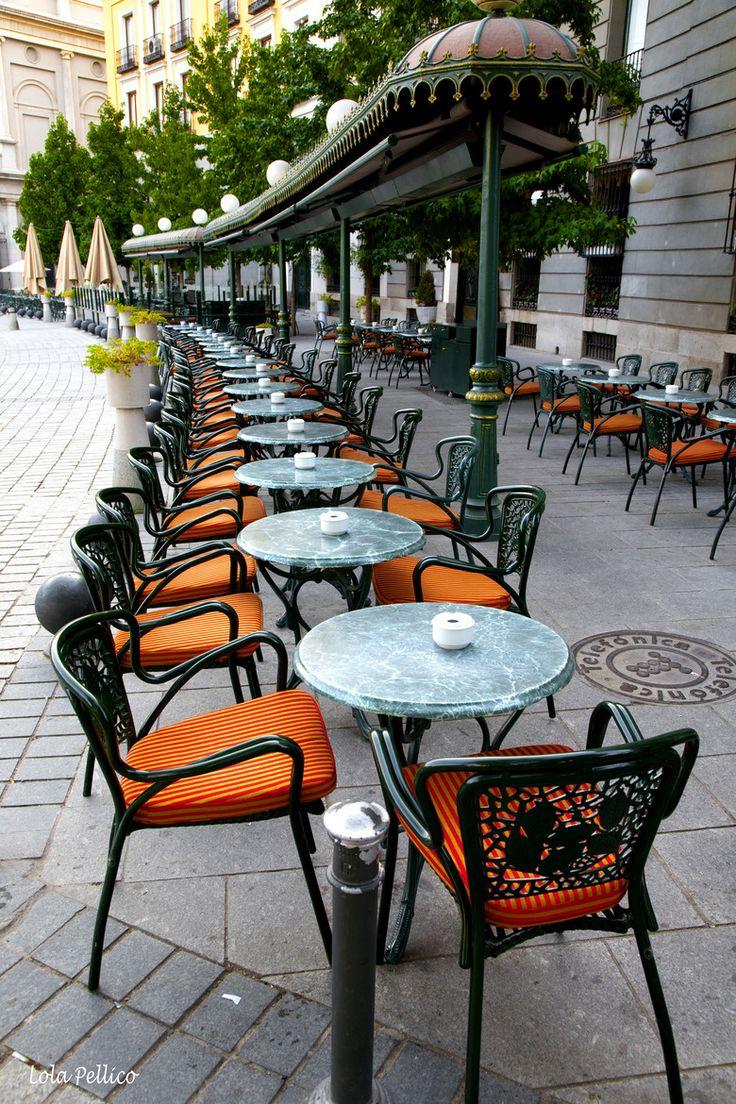 Café de Oriente, Plaza de Oriente, frente a los Jardines y palacio del mismo nombre, Madrid, Spain by Lola Pellico