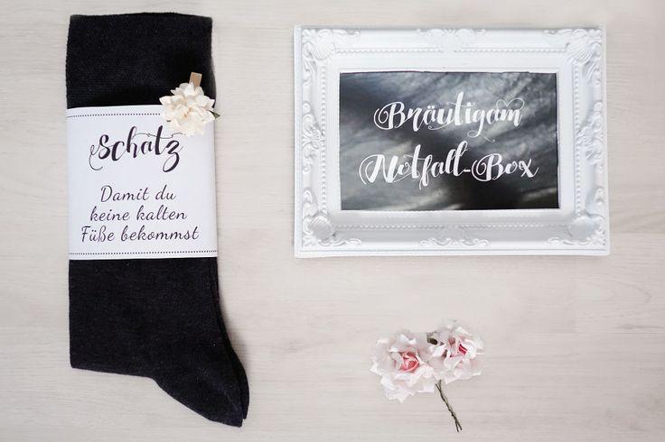 Die Survival/Notfall-Box für den Bräutigam Banderole für kalte Füße