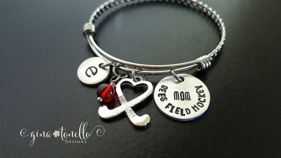 Field Hockey Mom Bracelet, Field Hockey Jewelry, Field Hockey Stick Charm, Field Hockey Bracelet, Team Mother Jewelry, Sports Mom, TW by…
