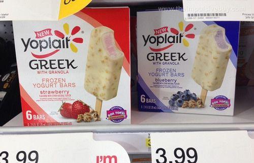 SPOTTED ON SHELVES - Yoplait Greek with Granola Frozen Yogurt Bars