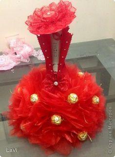 Свит-дизайн 8 марта День рождения Бумагопластика Asti в красном и обещанный МК Бумага гофрированная фото 1